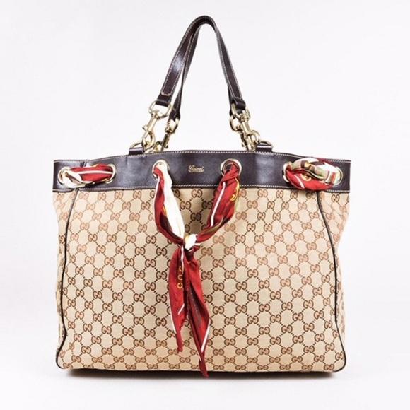 dd00450e69c90d Gucci Handbags - Gucci Positano Scarf Tote - Large